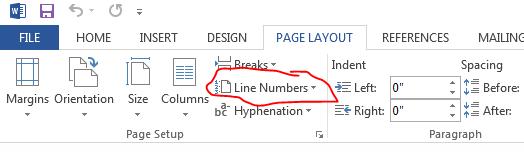 linenumbers